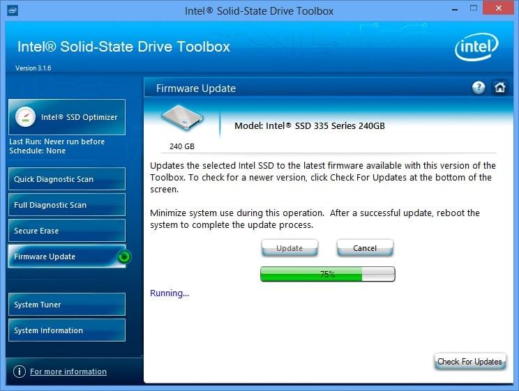 Intel, SanDisk, Micron, Samsung SSD managing software
