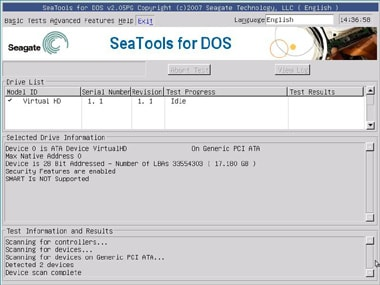 SeaTools for DOS