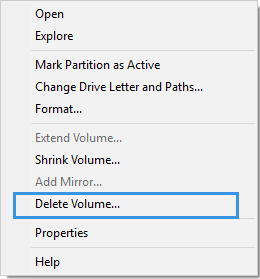 Disk Management Failed to Extend Volume