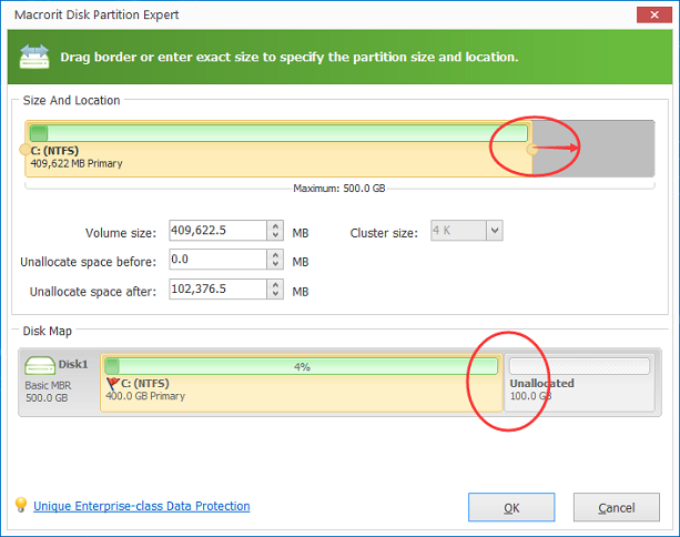 how to extend Drive C partition