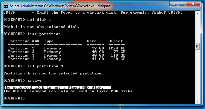 Common errors about disk managing