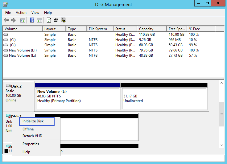 Resize VHD partition and create VHD partition