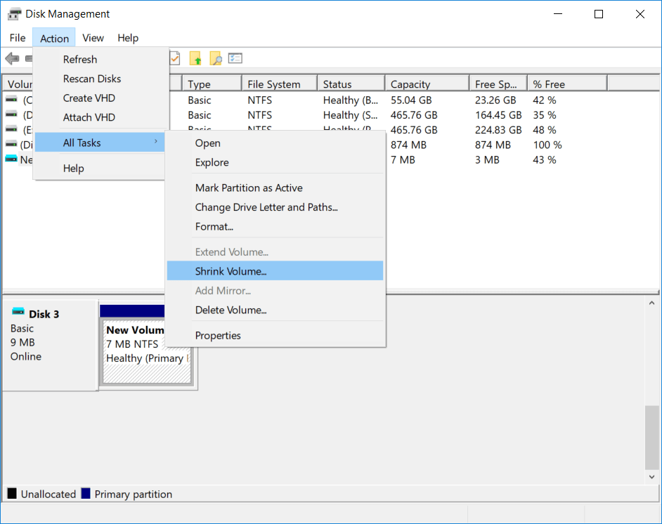 shrink vhd partition