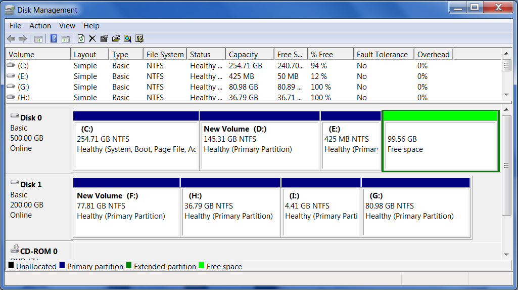 how to extend c drive partition with new hdd