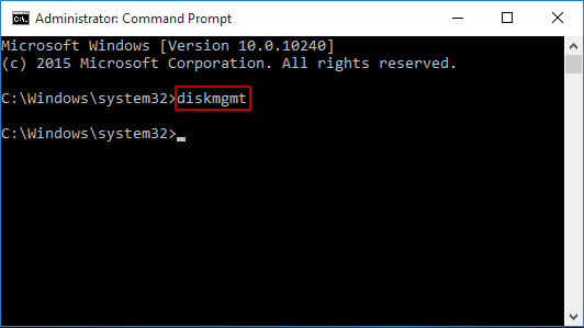 Command Line Open Disk Management