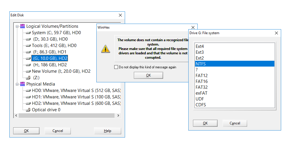 forensic disk wiping, check disk partition wiped or not