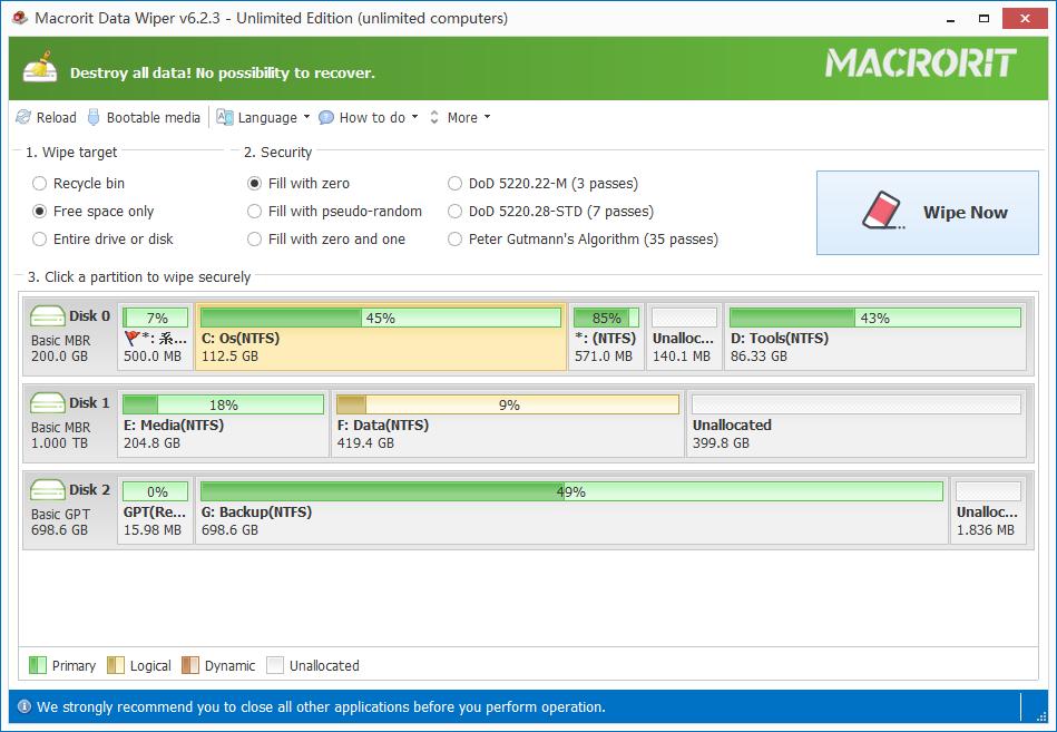 how to clear hard drive windows xp