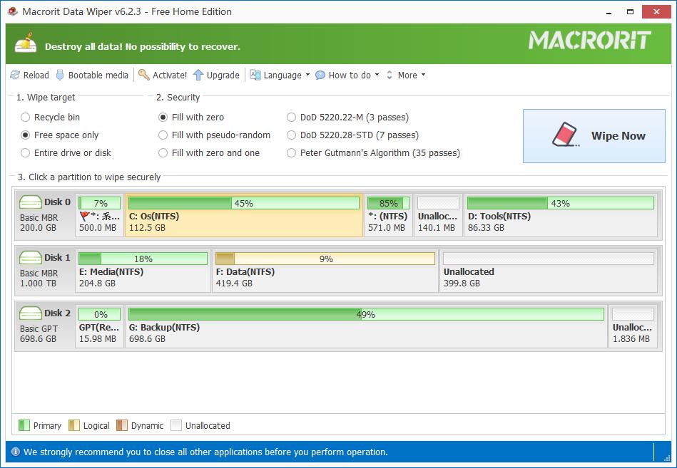 Resultado de imagen de Macrorit Data Wiper